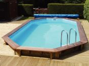 Plastica 5.5m x 3.6m Belgravia Premium Wooden Swimming Pool